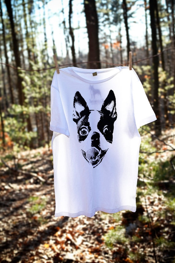 Women Boston Terrier Smile White Shirt Available in S-M-L-XL-XXL FREE shipping