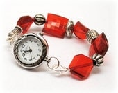 Interchangeable Watch and Band - Valentine Red