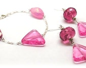 Pink Geo Bracelet and Earring Set