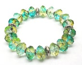 RESERVED - Chunky Blue Green Ice Bracelet