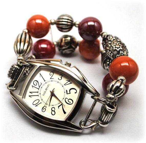 Interchangeable Chunky Beaded Watch - Fashionable Style