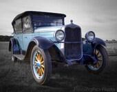Blue Vintage Chevrolet Print. ID5725