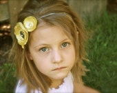 Ms. Ellie Fun in the Sun Yellow Flower Headband - Or Pick Your Favorite Color