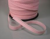 5 yds of Light pink scalloped edge elastic