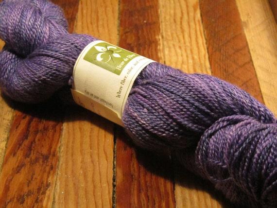 Aries Oceanus Wool/Seacell Rayon Fingering Yarn: Purple Haze