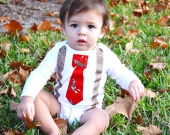 Baby Boy Bodysuit Chevron Stripes Fall Autumn By