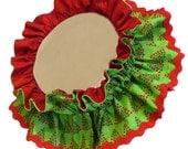 Christmas RUFFLED DOG COLLAR ruff bandana scrunchie scarf for medium size dogs