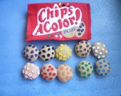 Colored Felt Cookies, Chips AColor, Chocolate Chip Felt cookies,