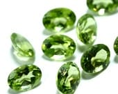 6x4mm Peridot 6 Pieces Faceted Gemstone AAA 6 x 4 mm Oval Cut Wholesale Semi-Precious Loose Stone Gem August Birthstone