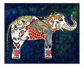The Queen Elephant - India Inspired Exotic Art Print - Limited Edition - Will surely make your place stand out