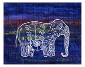 Elephants in the City - India Inspired Exotic Art Print - Limited Edition - Will surely make your place stand out