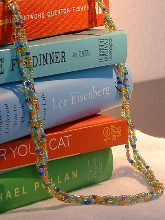 Spring Fling Multicolored Necklace--Three Strand