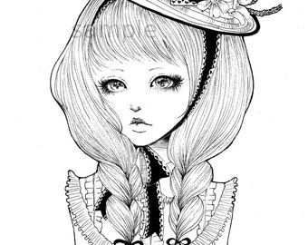 Original Girl Illustration