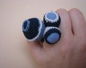 Crocheted Freeform Balls RING