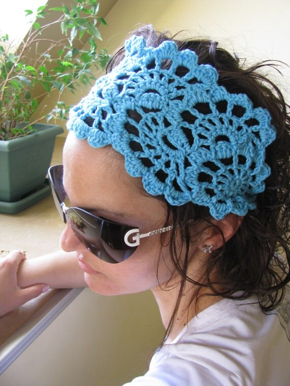 Crochet Gypsy Style Hair Band Pattern : CROCHET PDF Pattern - Summer Fashion Accessories - handcrochet ...