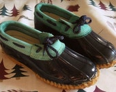 DUCK SHOES, kelly green and blue