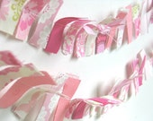 Pretty in Pink - A Beautiful Fabric Scrap Bunting / Garland / Photo Prop / Nursery Decor / Party Decor in shades of pink