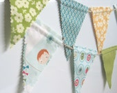 A Beautiful Mini Fabric Bunting / Garland / Photo Prop / Nursery Decor / Party Decor in Fly A Kite by October Afternoon