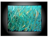 Modern Contemporary Abstract. Fine Art. Original Painting. 11 x 14. Title SEA of GRASS. by ArtbyMaryKay