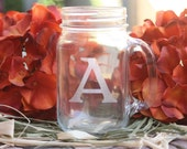 Personalized 16.5 ounce Mason Jar for Wedding, Bridal Shower or Favor