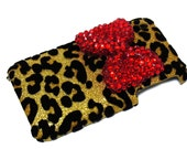 iphone 3G Case,iphone 3Gs case,leopard gold iphone 3G case,iphone 3Gs leopard Gold, Red Bow iphone 3g case,Crystal iphone 3Gs case A1