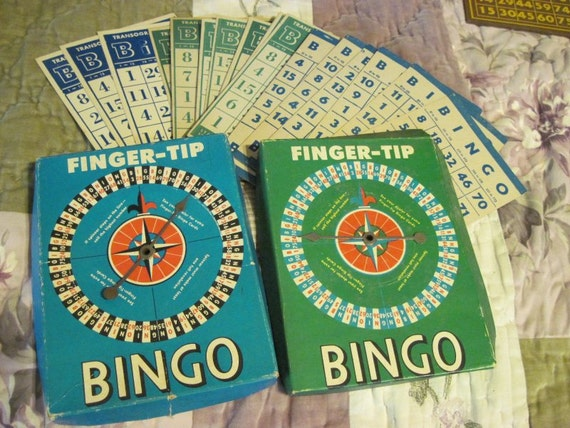Vintage Bingo Cards and Spinners