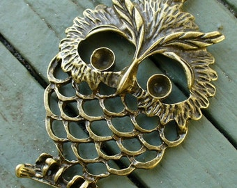 Steampunk Victorian pendant charm pirate Cute OWL  Necklace
