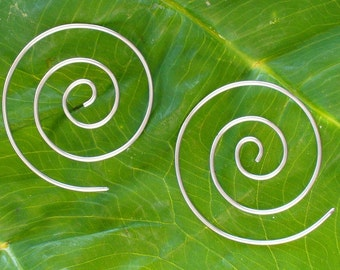 Tribal ETERNAL SPIRAL earrings 16g earrings organic  tribal earrings fake gauges