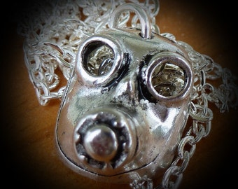 ODDITY Steampunk Victorian Freak GAS MASK pendant charm gothic pirate pendant  Necklace Sugar Skull Day of the Dead Zombie Horror Goth
