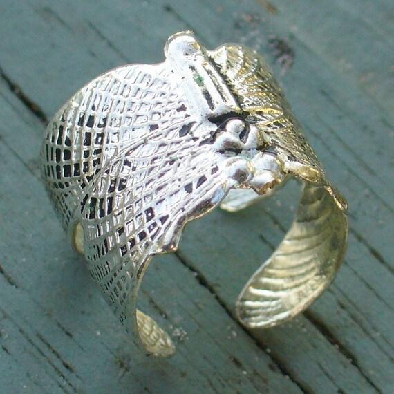 Steampunk victorian DRAGONFLY ring earring ear cuff