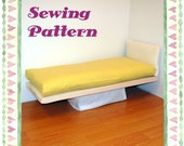 Doll Bed Mattress PDF pattern and tutorial Fits any size doll bed Easy Sew Barbie American Girl