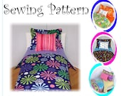 Doll Bedding PDF tutorial Fits American Girl Doll 18 inch doll bedding or any doll bed you may have