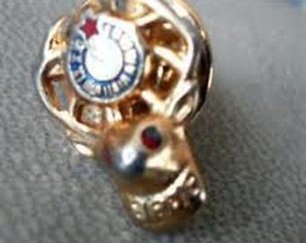 Vintage GOLD BPOE and American Legion Men's Lapel PINS