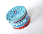 Vintage Tin Desk Storage Aquamarine and Red Packaging Koh-I-Noor