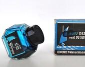 Vintage Waterman Ink Bleu des Mers du Sud -South Sea Blue