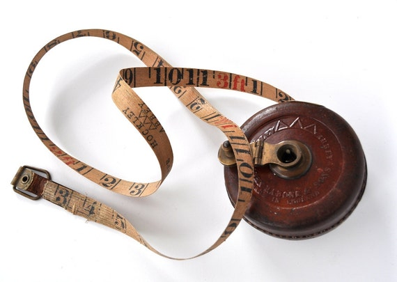 Vintage Leather Tape Measure John Rabone Hockley Abbey