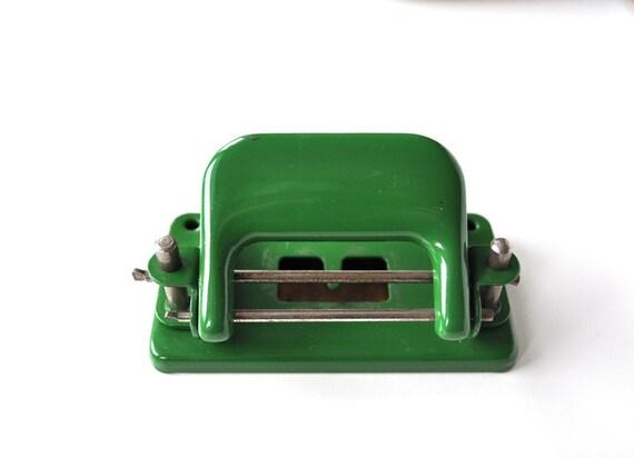 Vintage Green Metal Hole Puncher RESERVED