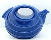 Vintage Rhythm Cobalt  Teapot  by Hall