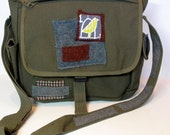 RESERVED  Military Army Bag Large Satchel A Bird in The Hand