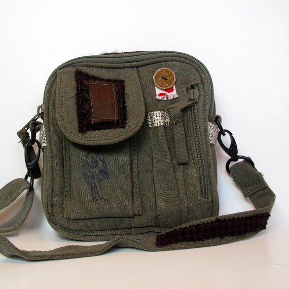 Military Olive Drab Army Small Bag Off to Join the Circus