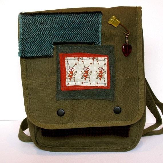 Military Army Bag Medium Satchel Tell Me, Honey.