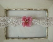 Dusty Mauve FLower Lace Newborn Headband