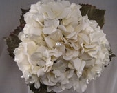 Hand Tied Cream Bridal Bouquet, Toss Bouquet and Boutonniere Set