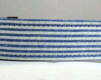 Dog Collar, Martingale Collar, Cat Collar - All Sizes - Blue  Seersucker
