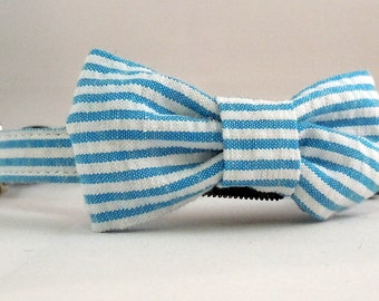 Cat Collars with Bow Tie or Flower - Pick Any Fabric in Shop