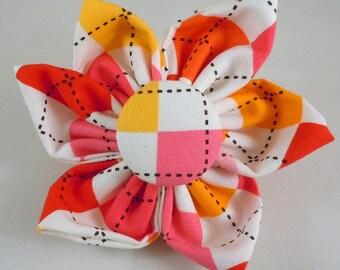 Dog Flower, Dog Bow Tie, Cat Flower, Cat Bow Tie  - Garden Argyle
