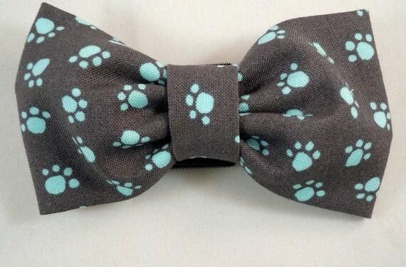 Dog Flower, Dog Bow Tie, Cat Flower, Cat Bow Tie  - Paw Prints