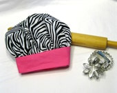 Zebra and Hot Pink Child Chef Hat - Adjustable
