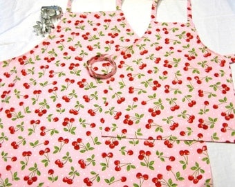 Matching Mother Daughter Retro Cherry Aprons