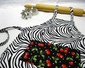 Zebra 'n Cherries Child Apron